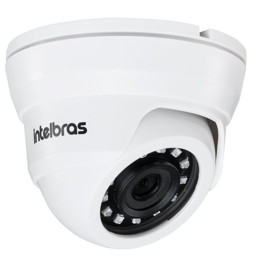 Kit Intelbras 6 Câmeras HD 720p VMH 1010 D + DVR 1008 Intelbras  + Acessórios