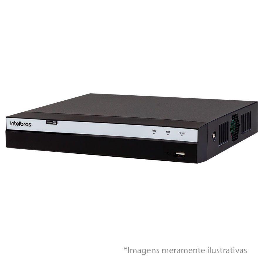 Kit Intelbras 6 Câmeras Full HD 1080p VMH 1220 B + DVR 3108 Intelbras  + Acessórios  - Tudo Forte