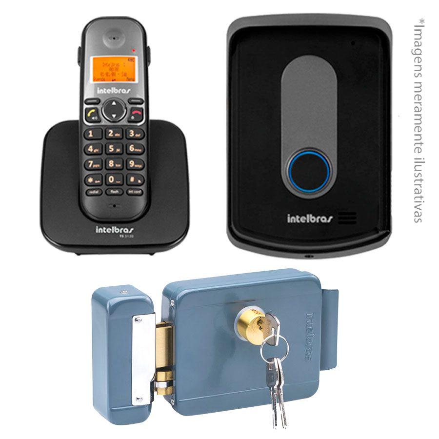 Kit Intelbras Interfone Porteiro Residencial Sem Fio TIS 5010 + Fechadura FX 2000