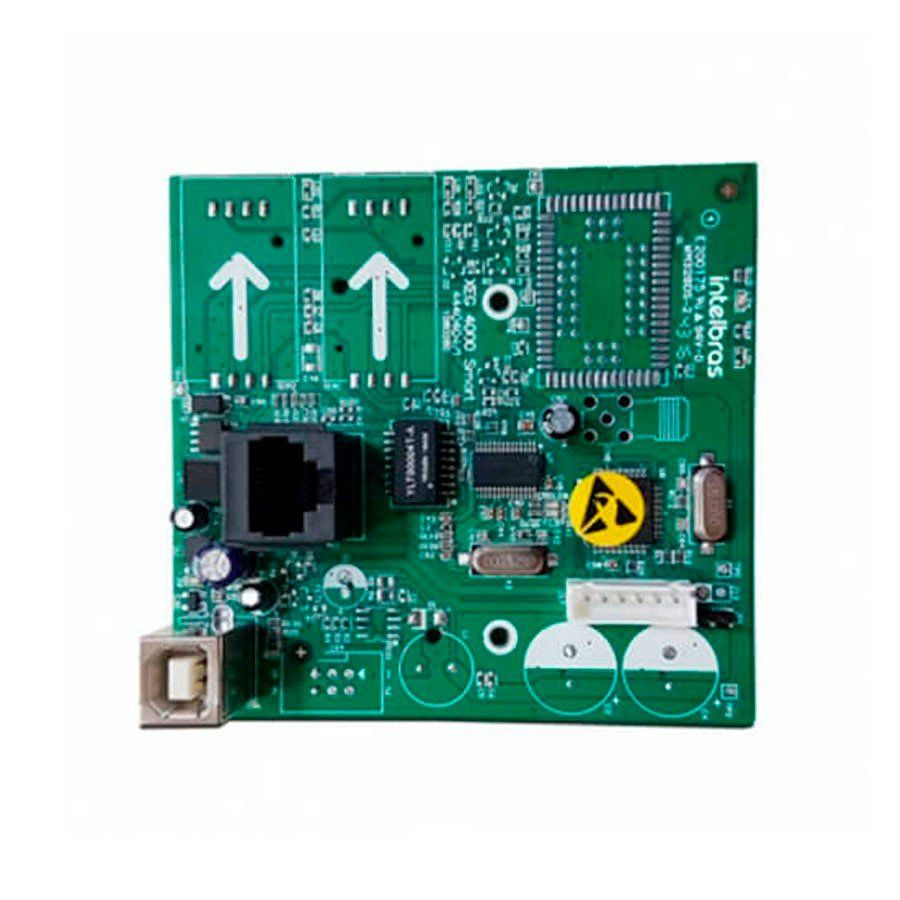 Módulo de Comunicação Ethernet Intelbras XE 4000 Smart, Monitore pelo Aplicativo via Internet, Compatível com AMT 4010 Smart  - Tudo Forte