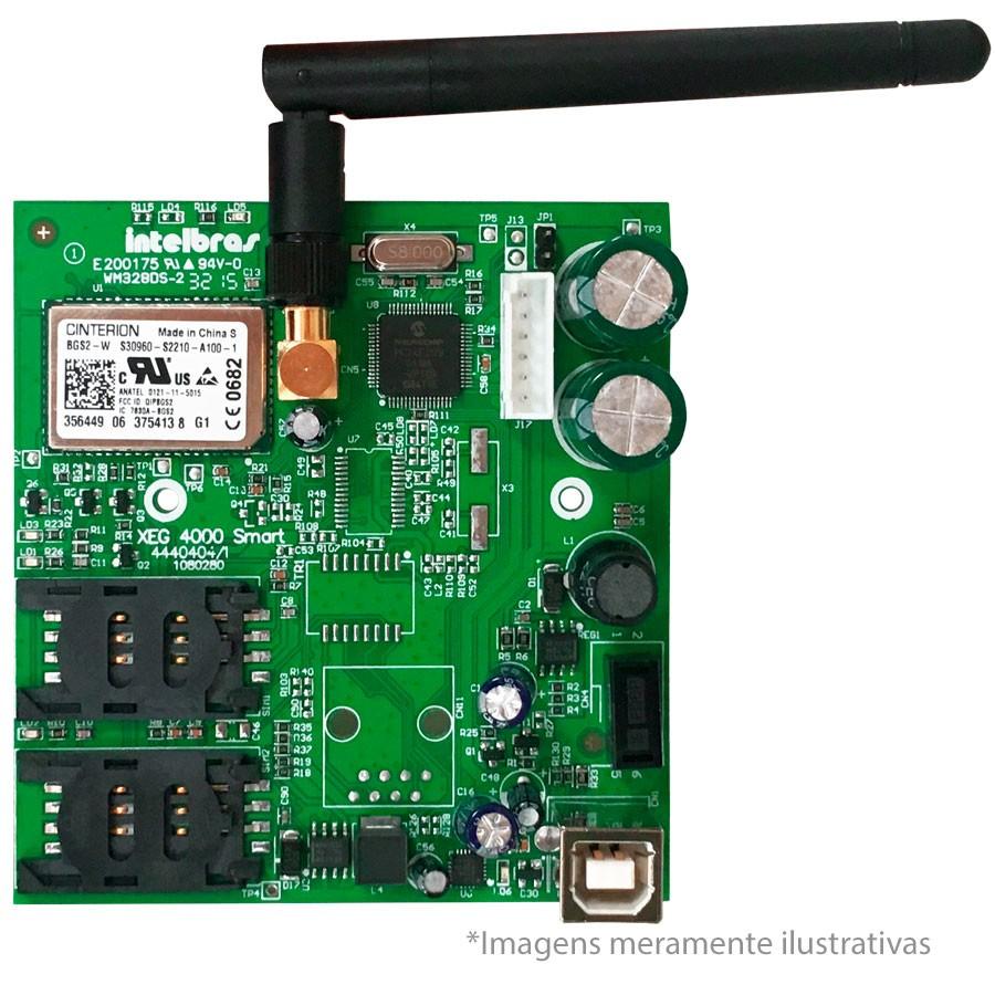 Módulo de Comunicação GPRS Intelbras XG 4000 Smart, Duplo SIM, Compatível com AMT 4010 Smart