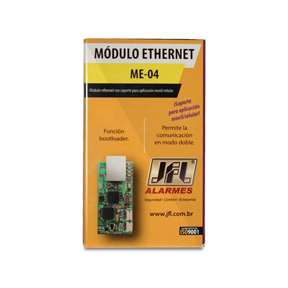Modulo Ethernet JFL ME-04 Mob, para comunicação via Internet, Aplicativo Celular