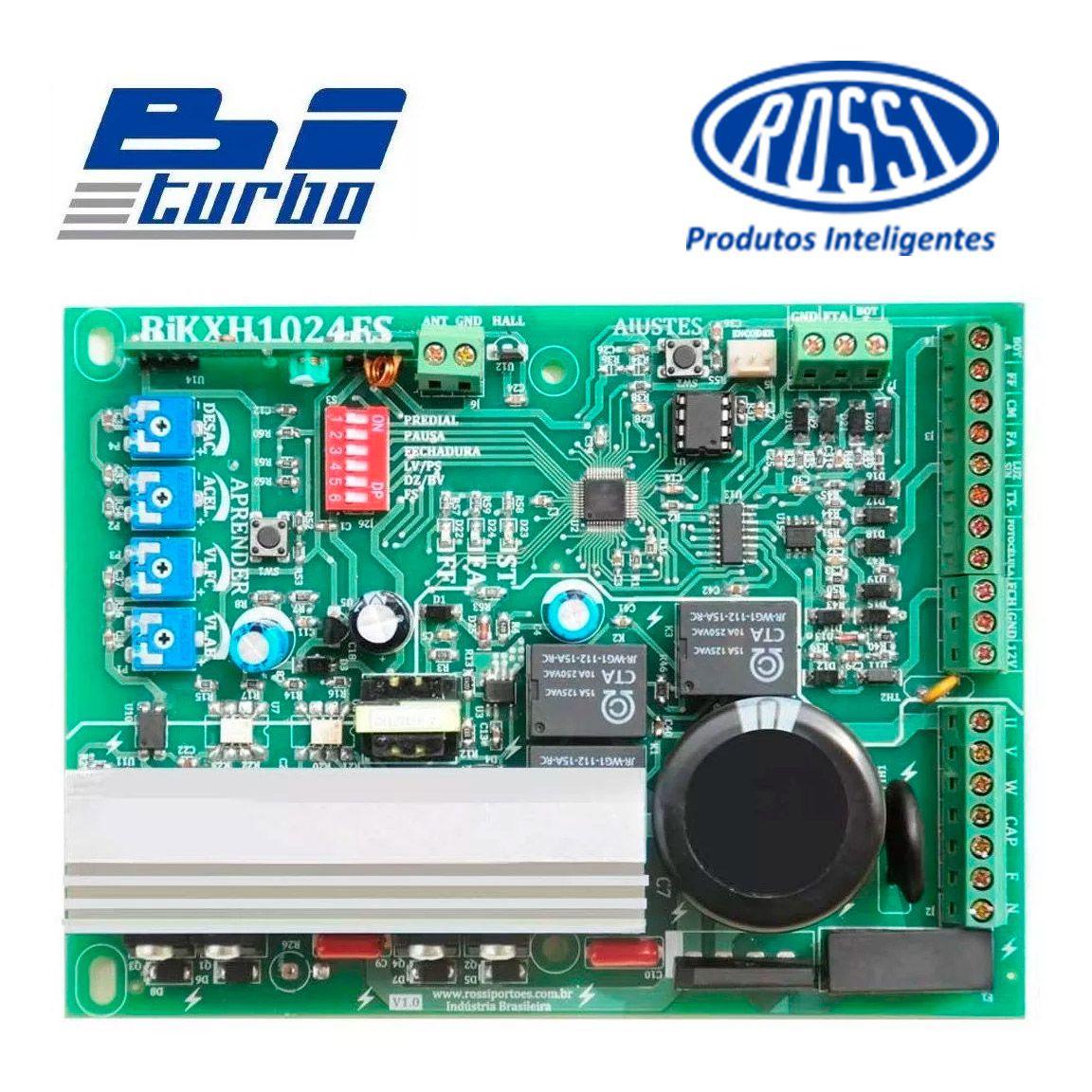 Motor Portão Rossi DZ4 SK BiTurbo 800Kg 1/3 Deslizante Automático de Correr Eletrônico Com Abertura Super Rápida  - Tudo Forte