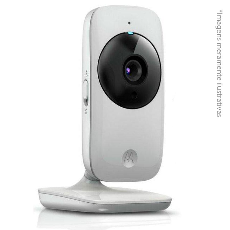 Motorola Babá Eletrônica Motorola MBP482, Tela de 2.4, Zoom digital, Visão Noturna, Temp, 16 canais, Branca