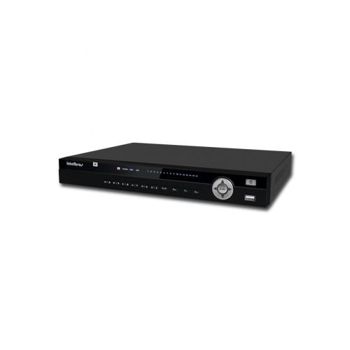 NVR, HVR Stand Alone Intelbras NVD 3016 P 16 Canais, com 4 portas PoE, para Câmera IP, OnVif