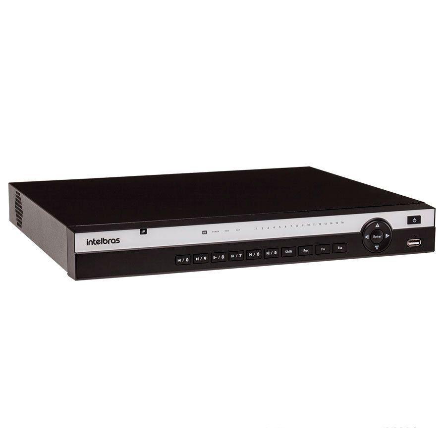 NVR Stand Alone Intelbras NVD 3116 P 16 Canais, com 16 portas PoE, para Câmera IP, OnVif  - Tudo Forte