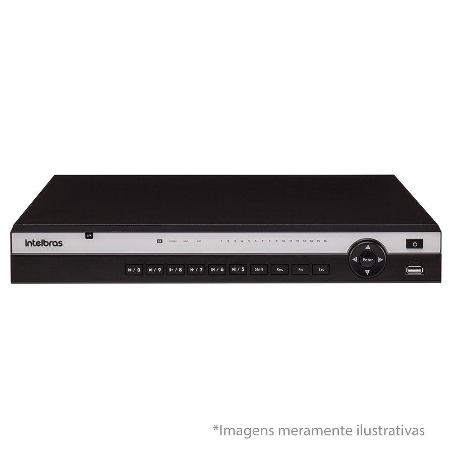 NVR, HVR Stand Alone Intelbras NVD 3116 P 16 Canais, com 16 portas PoE, para Câmera IP, OnVif