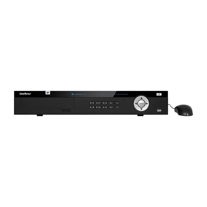 NVR, HVR Stand Alone Intelbras NVD 5016 4K, 12 Megapixel, 16 canais, para Câmera IP, compatível com Câmera Fisheye, OnVif  - Tudo Forte