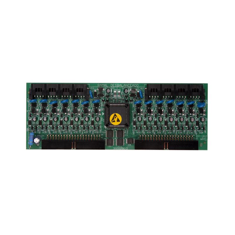 Placa Intelbras de 16 Ramais Desbalanceados Compatível com Central CP 48 e CP 112