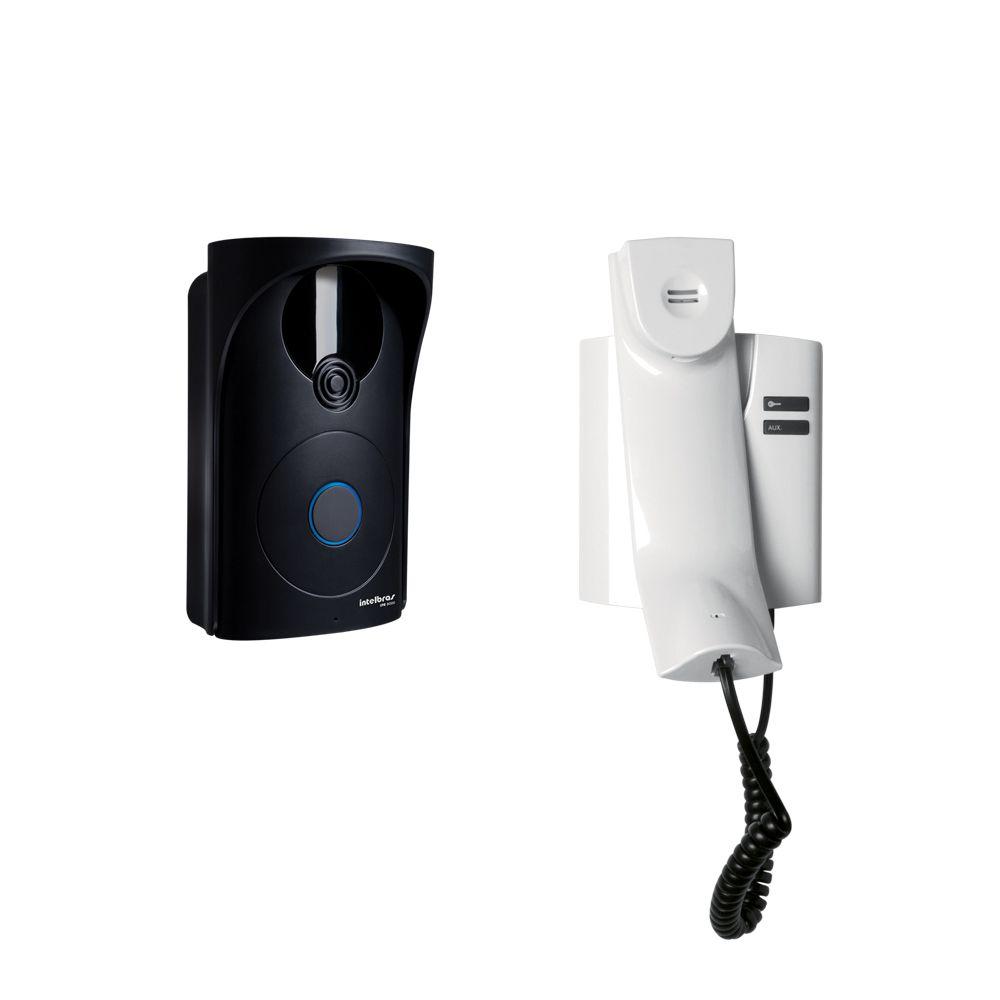 Porteiro Residencial Intelbras IPR 8000 2 Saidas para Fechadura Sensor de Porta Aberta Capacidade para até 3 módulos internos  - Tudo Forte