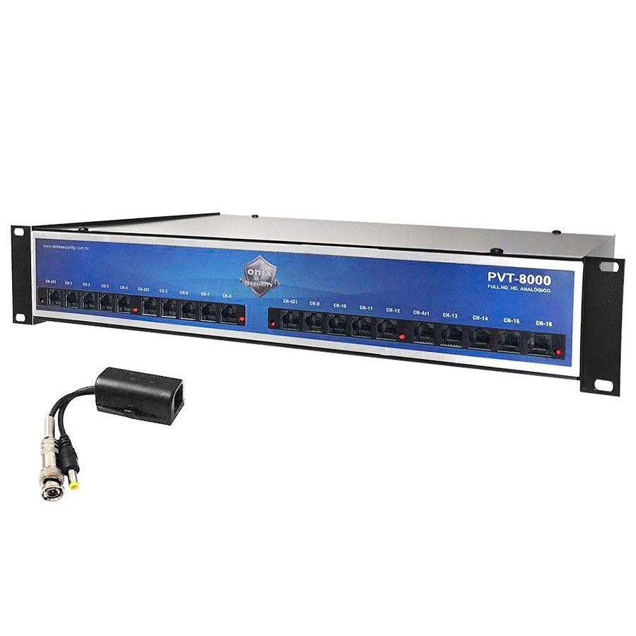 Power Balun HD 8000 Onix Security 16 Canais Com Rack 5U Completo