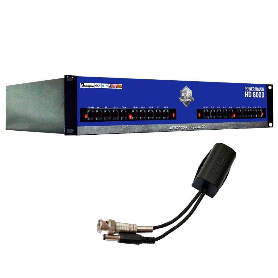 Power Balun HD 8000 Onix Security 16 Canais Completo