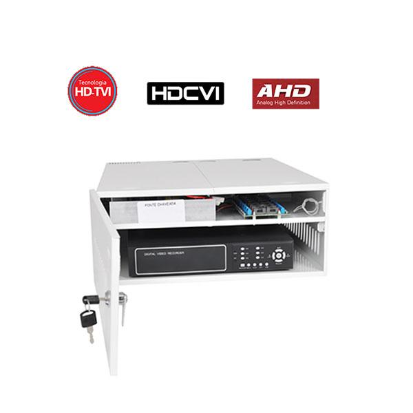 Rack Organizador HD e Analógico, Mini Iron House, 16 Canais, Onix Security