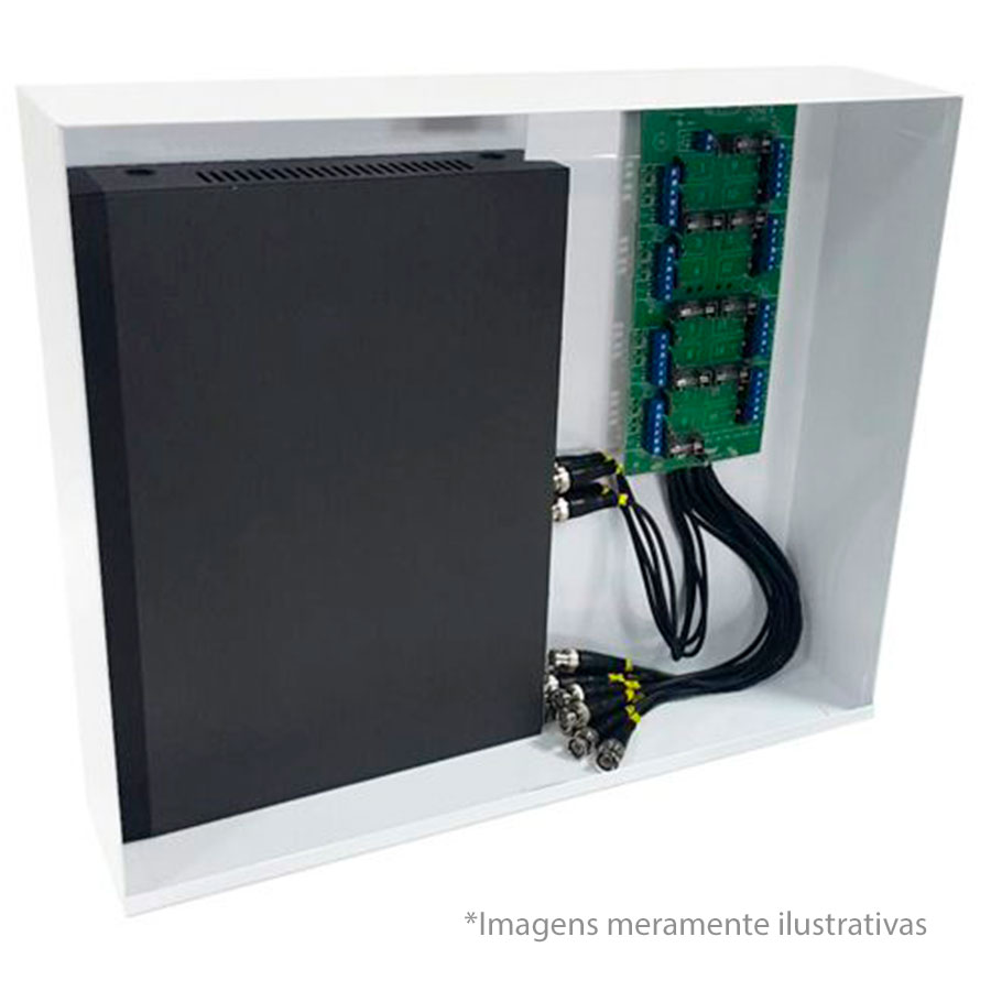 Rack Orion HD 3000 Organizador de Cabos Onix Security Para DVR 16 Canais - Indicado para DVRs Full HD, maior espaço interno  - Tudo Forte