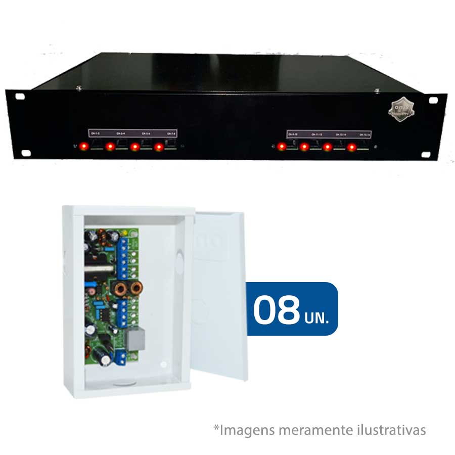 "Rack Orion HD 9000 PVT DUPLEX 19"" 16 Canais – Onix Security"