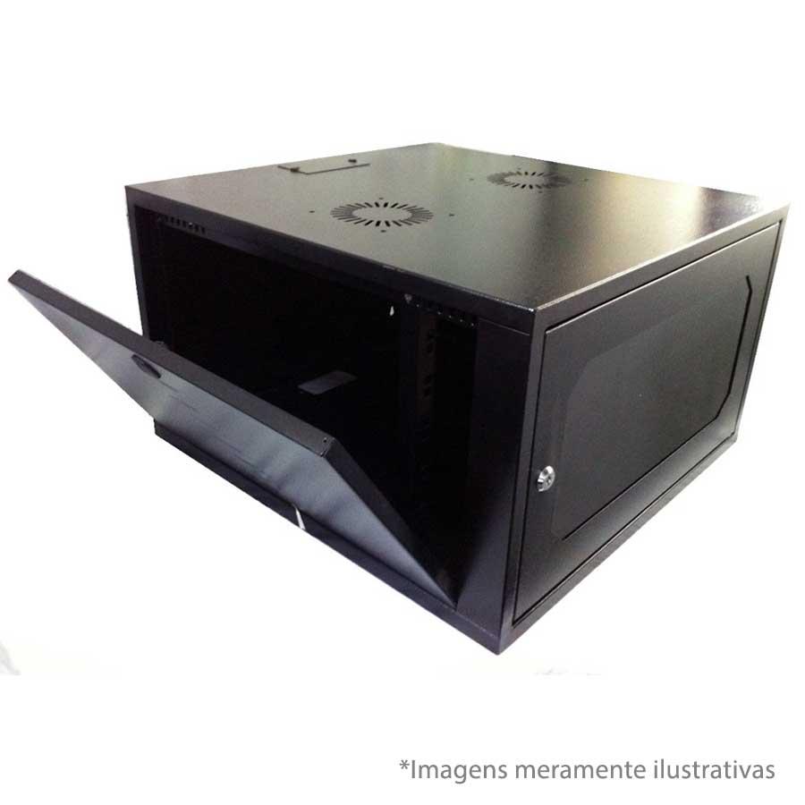 """Rack Padrão BBK 19"""" 9U X 580mm - Preto"""