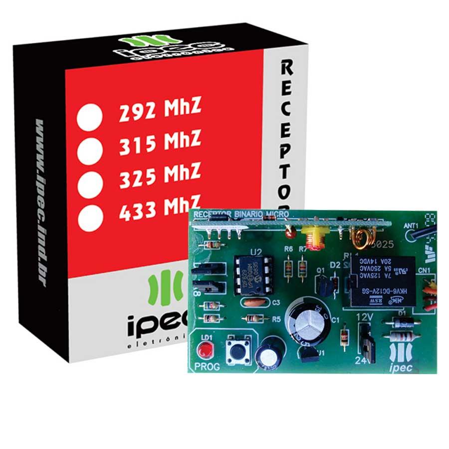 Receptor Binário Microcontrolado Ipec 292 MHZ  - Tudo Forte