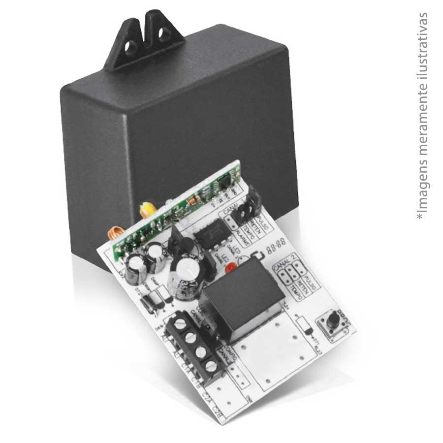 Receptor Multifunções RECMP21 Compatec 2 canais 433,92 Mhz até 30 metros  - Tudo Forte