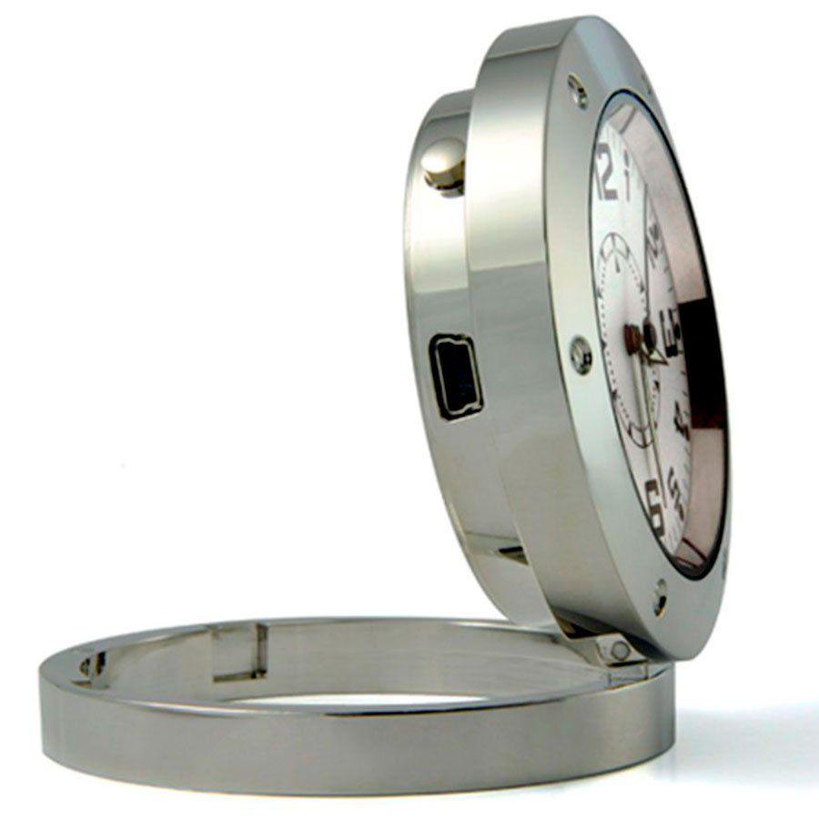 Camera Espião Relógio Mesa com Áudio, Filma e Foto  - Tudo Forte