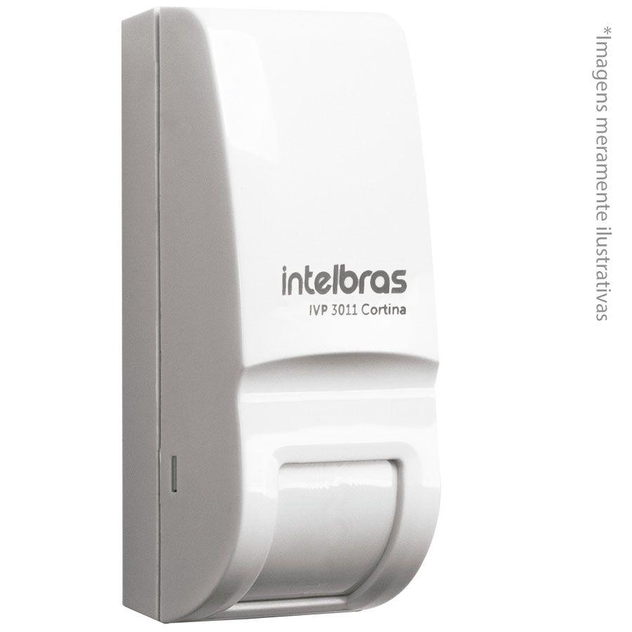 Sensor de Presença Infravermelho IVP 3011 Cortina Intelbras Com Fio Passivo, 2 níveis de sensibilidade, Cobertura com ângulo de 15° e Alcance de 6m