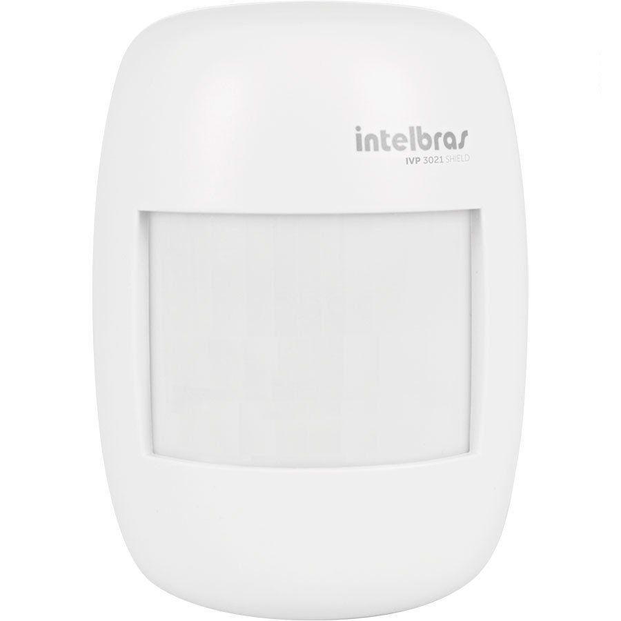 Sensor de Presença Infravermelho IVP 3021 Intelbras Com Fio Passivo, 2 níveis de sensibilidade, Cobertura com ângulo de 115° e Alcance de 12m  - Tudo Forte
