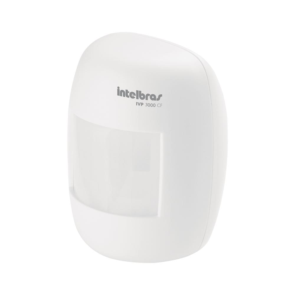 Sensor de Presença Infravermelho IVP 3000 CF Intelbras Com Fio Passivo, 2 níveis de sensibilidade, Cobertura com ângulo de 115° e Alcance de 12m  - Tudo Forte