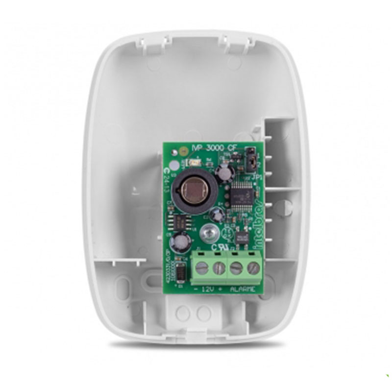 Sensor de Presença Infravermelho IVP 3000 CF Intelbras Com Fio Passivo, 2 níveis de sensibilidade, Cobertura com ângulo de 115° e Alcance de 12m