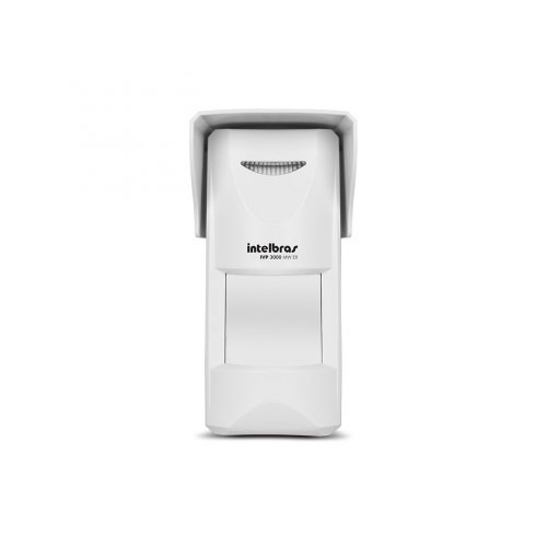 Sensor Externo de Presença Infravermelho IVP 3000 MW EX Intelbras Com Fio Passivo, 4 de IR e 5 de MW níveis de sensibilidade, Cobertura com ângulo de 110° e Alcance de 12m - PET 35 Kg  - Tudo Forte