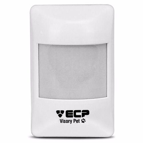 Sensor de Presença Infravermelho Visory PET ECP Com Fio Passivo, 3 níveis de sensibilidade, Alcance de 15m - PET 20 Kg  - Tudo Forte