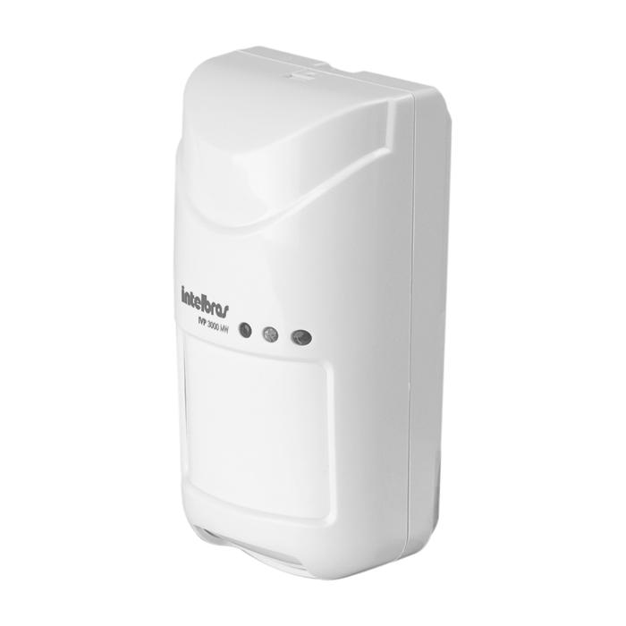 Sensor de Presença Infravermelho IVP 3000 MW Intelbras Com Fio Passivo, 2 níveis de sensibilidade de IR e MW escalonável, Cobertura com ângulo de 110° e Alcance de 12m  - Tudo Forte