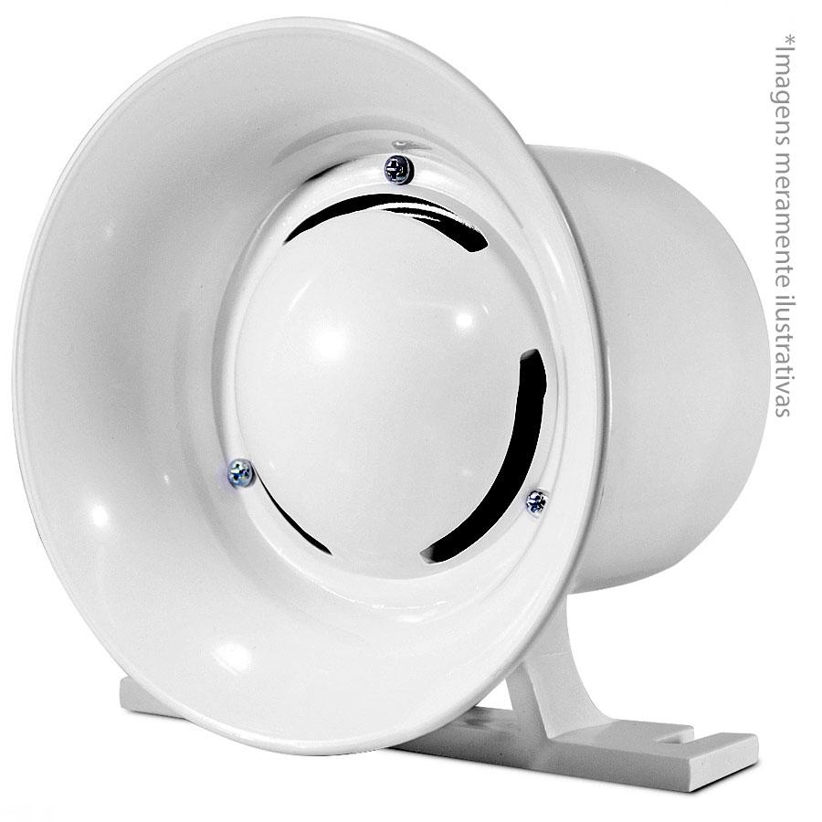 Sirene Branca Compacta de Alta Potência, 116Db, 12v