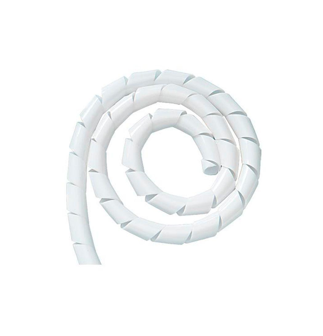 """Organizador de Cabos Espiral Spiraduto 1/2"""" 5Mt Branco  - Tudo Forte"""