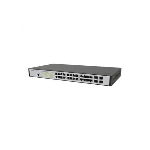 Switch 24 Portas Gigabit Gerenciável Intelbras SG 2404 MR  - Tudo Forte