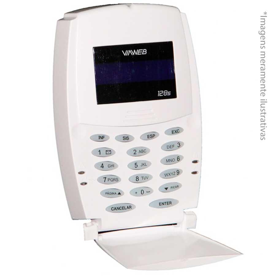 Teclado Para Central de Alarme 128S ViaWeb com Senha