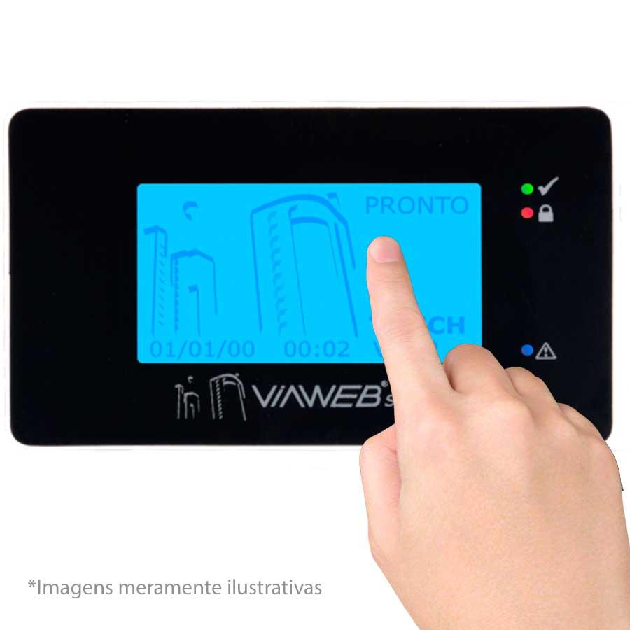 Teclado Para Central de Alarme Touch ViaWeb com Senha