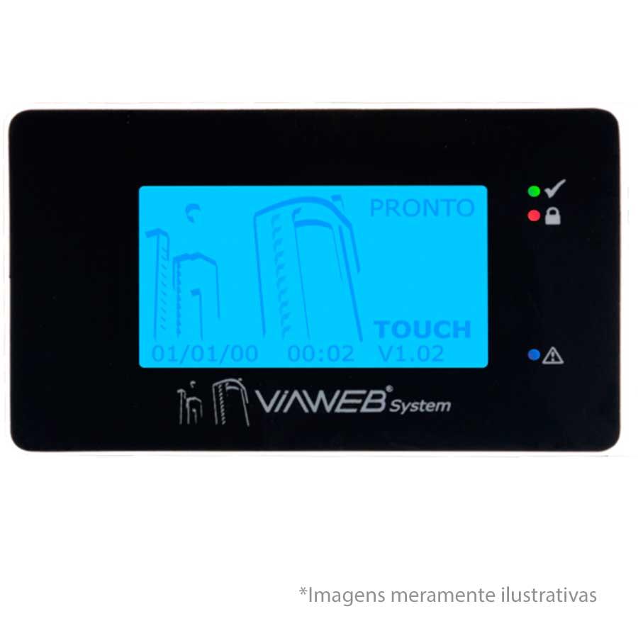 Teclado Para Central de Alarme Touch ViaWeb com Senha   - Tudo Forte