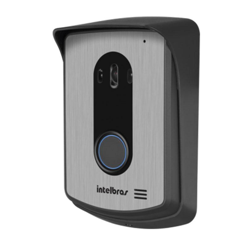 """Kit Vídeo Porteiro Interfone Intelbras IV 7010 HF Viva Voz, Visualiza até 04 Cameras, Atende por Celular, abre 2 portões, Tela LCD 7"""""""