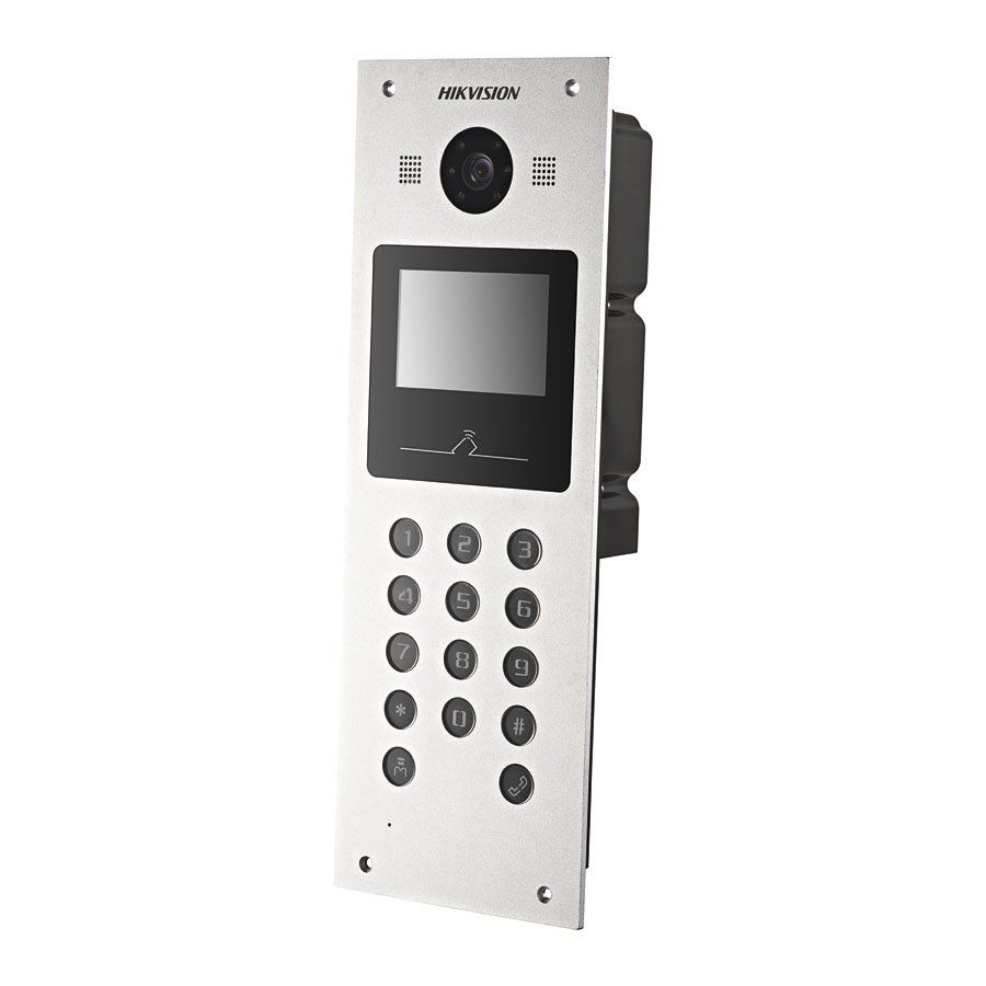"Video Porteiro IP DS-KD3002-VM Hikvision Módulo Externo Tela LCD 3,5""  - Tudo Forte"