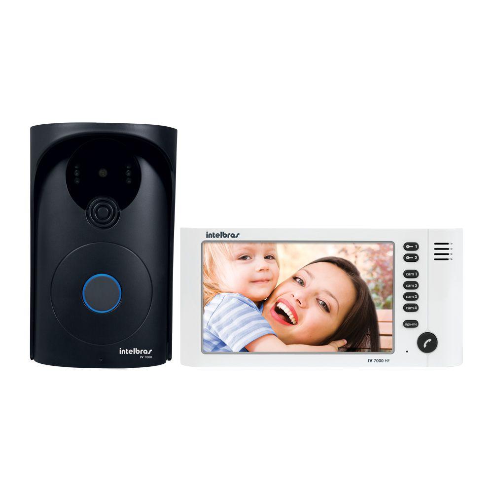 Video Porteiro Intelbras IV 7000HF, 2 Saidas para Fechadura, Suporta 4 Canais de Video, Viva-Voz, Câmera Externa Oculta com Infravermelho  - Tudo Forte