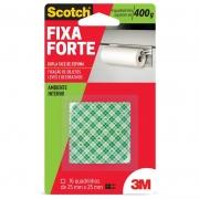 Fita Dupla Face 3M Scotch® Fixa Forte Espuma - Uso Interno - 16 quadradinhos 15097