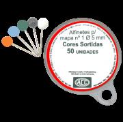 Alfinete para Mapa ACC N°1 Caixa com 50 Uni. 05155