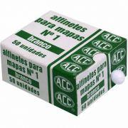 Alfinete para Mapa 1 Caixa com 50 Un. Branco ACC 05662