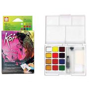Aquarela 12 Cores CaC Koi Water Colors Com Pincel Brush Xncw 12Mh 29237
