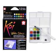 Aquarela 12 Cores Koi Water Brush Colors Com Pincel Brush Xncw 12H 29147