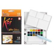 Aquarela 18 Cores Koi Water Brush Colors Com Pincel Brush Xncw 18H 29148