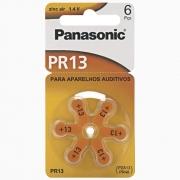 Bateria Auditiva Panasonic Zinco Ar PR-13BR 1,4V 250Mah 6 Un. PR13BR/300 29983