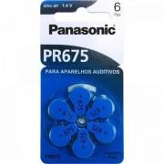 Bateria Auditiva Panasonic Zinco Ar PR-675BR 1,4V 605Mah 6 Un. PR-675BR/300 29980