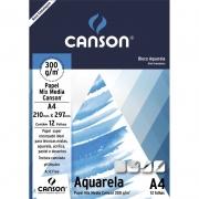 Bloco Canson Aquarela 300G A4 12 Fls 66667180 24406