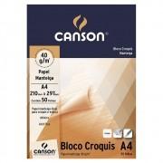 Bloco Canson Artístico Croquis Manteiga A4 50 Fls 40gr 66667046 27890