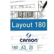 Bloco Canson de Layout Tecnico A3 20 Fls 180G/M2 66667028 27888